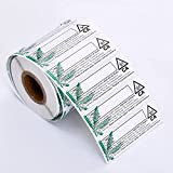 """California Medical Universal Symbol Labels - State Compliant Leaf Medical Stickers 3""""x1"""" - 1,000 pc Roll…"""