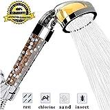 Vitamin C Filter Shower Head- Filtered Shower Head - Hard Water Softener - Chlorine & Flouride Filter - Universal Shower System - Helps Dry Skin & Hair Loss