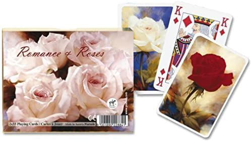 Piatnik Romance and Rosas playing cards (twin deck) by Gibsons Games