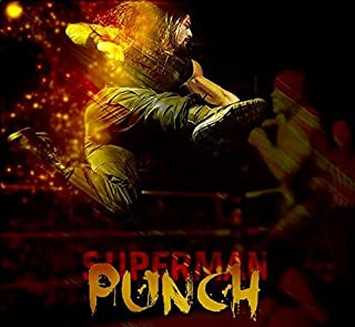 United Mart Poster Roman Reigns Super Man Punch Cover Poster 12 x 18 Inch Rolled Poster