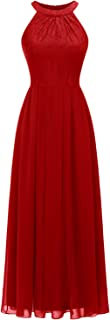 Women's Halter Long Bridesmaid Dress Prom Dress Formal Wedding Party Gown
