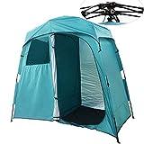 Double Espace Tente de Camping Pop-up Multifonctionnelle Instantanée Tente Portable De Douche...