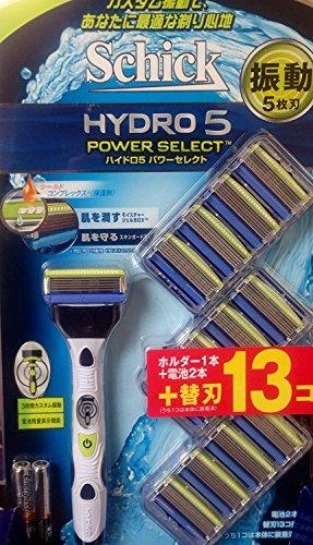 ハイドロ5 パワーセレクト お買い得 シック ハイドロ5 パワーセレクトホルダー1本+ 替刃 (13コ入)+電池...