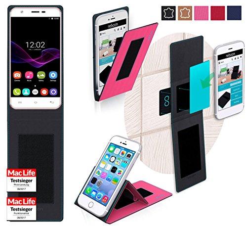 reboon Hülle für Oukitel U7 Max Tasche Cover Case Bumper   Pink   Testsieger