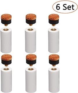Festnight Embouts /à Visser 5PCS avec Embouts de Baguette de Billard Remplacement de la t/ête de Queue de Billard 13 MM 12 MM
