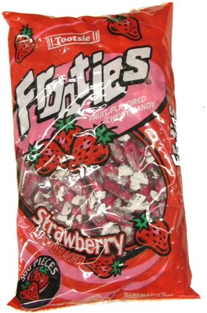 Tootsie Frooties Strawberry Flavored Chewy Candy - 360 / Bag