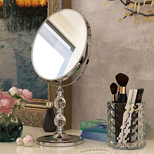 ZGQA-GQA Espejo de Escritorio de Doble Cara Espejo de Vestir Princesa Espejo portátil de Vidrio de Aumento Belleza Europea (Tamaño: 8 Pulgadas)