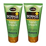ShiKai All Natural Borage Therapy Unscented Hand Cream Lotion For Hands, Elbows, Knees and Feet With Aloe Vera, Jojoba, Vitamin E and Shea Butter, Fragrance-Free, 2.5 fl. oz. (Pack of 2)