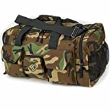 "King Kong Original Nylon Gym Bag - Heavy Duty and Water-Resistant Duffle Bag - Military Spec Nylon- Heavy Duty Steel Buckles - 20"" x 12"" x 12"" - Digital Camo"