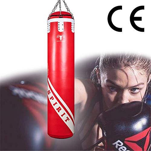 ALTINOVO Saco De Boxeo Adulto Sacos Pesados De Boxeo Saco De Arena De Boxeo Profesional Hueco Sin Relleno con Cadenas para El Entrenamiento De Boxeo Bolsa De Arena De Fitness,120cm