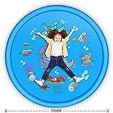 Mr. Hao Aspersor para Niños Alfombra de Juego de Agua 170Cm Verano Al Aire Libre Spray de Dibujos Animados Niños Mar Animal Sprinkle Pad Water Spray Carpet Pad Toy Juguetes Inflables Portátil