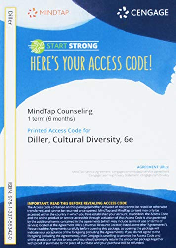MindTap Counseling, 1 term (6 months) Printed Access Card for Diller's Cultural Diversity: A Primer for the Human Servic