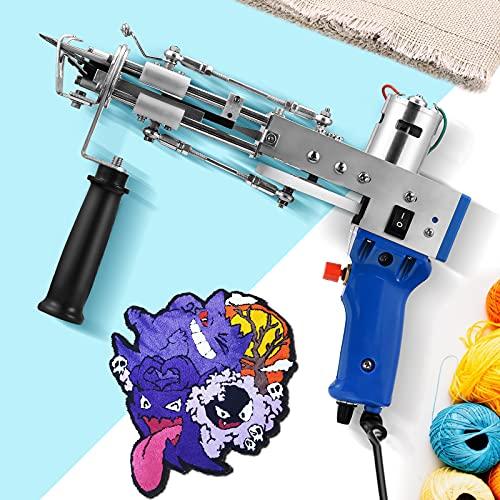 4YANG Pistola elettrica per trapuntare a Tappeto Tufting Gun Elettrico Floccatrice Gun Carpet Weaving affollamento Macchine 7-12 mm, Moquette in Velluto a Maglia Handheld Machine (Cut Pile)