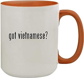 got vietnamese? - 15oz Colored Inner & Handle Ceramic Coffee Mug, Orange