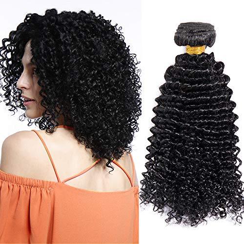 "Tissage Kinkycurly Naturel [1 Bundle ] Tissage Remy Hair Lot - 10""/25CM Kinky Curly - Noir Naturel"