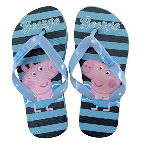 Peppa Wutz INFRADITO GEORGE PIG Flip Flop Badeschuhe für Kinder 25 bis 30 letzte Größe erhältlich 29/30