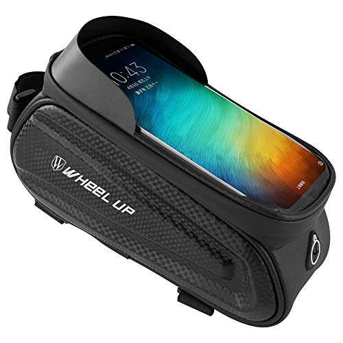 Bicycle Frame Bag Bicycle Bag Bags Bike Front Frame Bag - Night Riding bagWaterproof Bicycle Top Tube Cycling Phone Mount Pack Phone Case for 6.5'' iPhone Plus xs maxLarge Space Waterproof