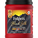 Folgers Black Silk Dark Roast Ground Coffee, 10.3 Ounces