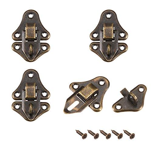 uxcell Riegel, Retro-Stil, kleine Größe, dekorative Haspe mit Schrauben, 4 Stück