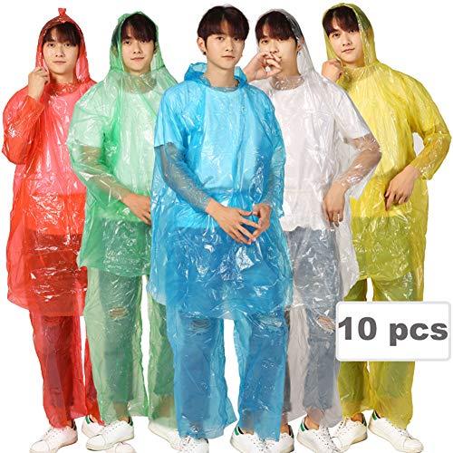 Regenjas voor volwassenen, groot formaat, wegwerp-poncho, noodregenjas voor mannen en vrouwen, met regenjas van kunststof, waterdicht