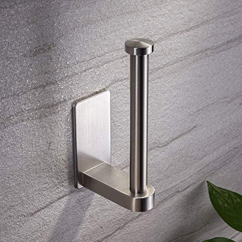 YIGII Self Adhesive Toilet Paper Holder - Bathroom Toilet Paper Holder Stand no Drilling Stainless...