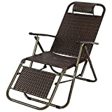 XITER Chair Folding chair Camping Chair With Footrest Reclining For Heavy People, Rattan