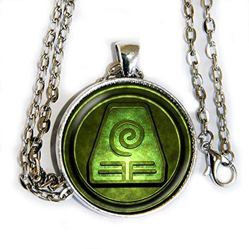 Avatar Airbender Earth inspired symbol - pendant necklace - HM