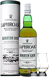 Laphroaig Quarter Cask Islay Single Malt Whisky 0,7 Liter  2 Glencairn Gläser