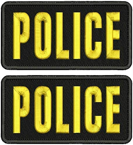 Police Embroidery Patches 3x6 Back Hook Washington Max 65% OFF Mall on