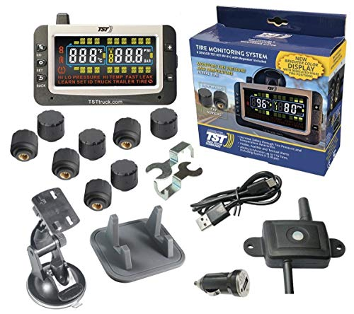 TST 507 Series 8 RV Cap Sensor Tire Pressure Monitoring System Color Display and Repeater with Dash...