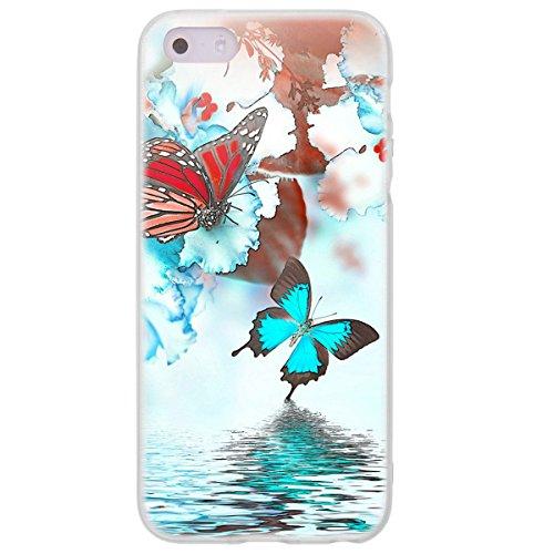 Ooh.Color 025605_ nfl036Romanzo–Flower Orchidee Ragazze con Motivo Morbida in Silicone TPU Bumper Custodia per Apple iPhone 5/5S Trasparente