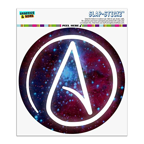 Graphics and More Atheist Atheism Symbol in Space Automotive Car Window Locker Circle Bumper Sticker