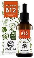 Vitamin B12 1700 Tropfen (50ml) - Hochdosiert - Beide aktive B12 Formen: Methyl- & Adenosylcobalamin.