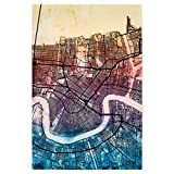 artboxONE Poster 75x50 cm Städte New Orleans Street Map 4