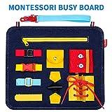 SUNTOY Montessori Jouet éducatif pour Tout-Petits Filles garçons, pour Apprendre Les Enfants de 2 3 4 5 Ans, Planche occupée pour Les Tout-Petits Cadeau de Noël Anniversaire