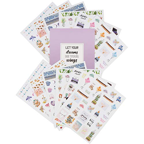 Lamare Decorative Planner Stickers and Accessories - 400 Beautiful Monthly, Weekly & Daily Sticker Set - Journal & Calendar Stickers for Student & Kids - Happy Journaling Agenda Sticker Pack