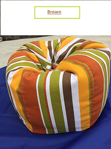 Zamyy Stuffed Animal Bean Bag Cover Extreme Sturdiness Premium Quality Colorful Striped Canvas Fabric Large Storage Capacity for Soft Toys,Towels,Extra Sheets,Clothes (Blue) Smart Mother's Gift idea