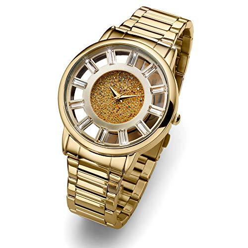 Oliver Weber | Uhr Reims Gold | Damen | veredelt mit Kristallen von Swarovski® | Designed in Austria | 65050 GOL