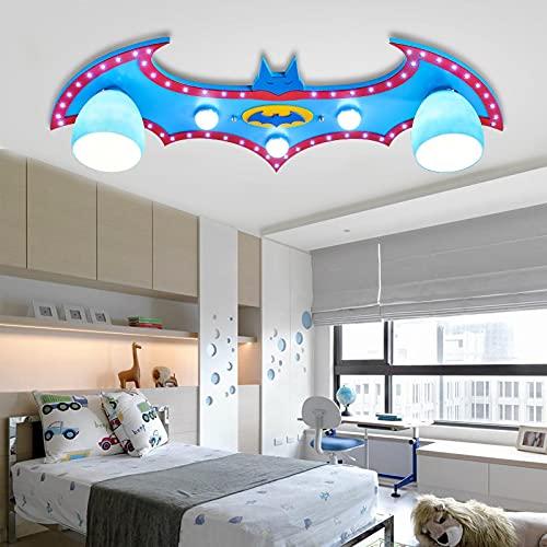 Lámpara De Techo Regulable Para Habitación Infantil,Plafón Led De Techo Dormitorio Niño/Niña,Lámpara De Dibujos Animados Para Niños Batman B70 * 32 * 18Cm Luz Blanca
