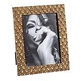 Marco de Fotos Grabado Vintage Dorado de Resina para Foto de 15x20 cm - LOLAhome