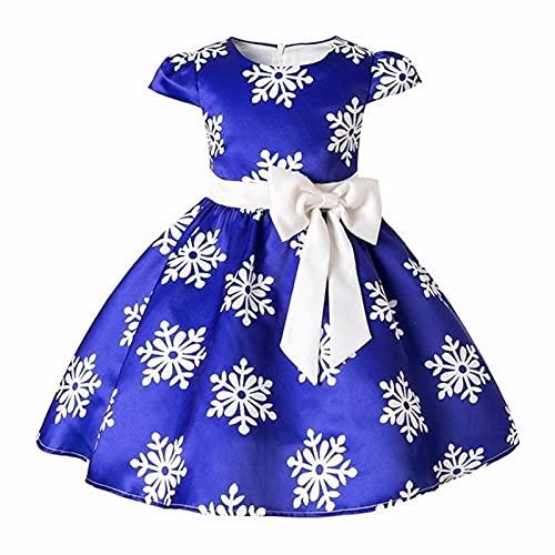 ZYOONG Vestido de princesa de seda bordado para bebé niña flor elegante vestidos de fiesta Navidad Halloween vestidos de niños (color: FD318 azul, tamaño para niños: 6)