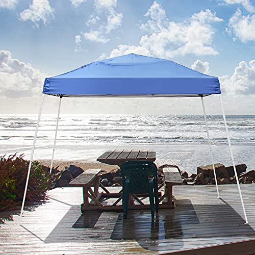 Outdoor 8x8 Ft Pop Up Canopy Tent, GDY Portable Instant Folding Shelter Gazebos, Blue Waterproof Canopies with Carrying Bag (8x8, Blue)