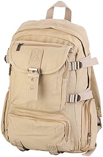 Xcase Rucksack zum Schnüren: Geräumiger Canvas-Rucksack mit Notebook-Fach (Outdoor Rucksack)