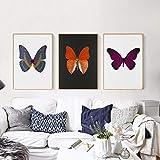 XNHXPH Damien Hirst Leinwand Malerei Schmetterling Poster