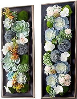 LIYONG Mur de Luxe décoratif/Artificiel Cadre végétal, Salon canapé de Fond Mur décoration Mur Mur Suspendu 2pieces Set (C...