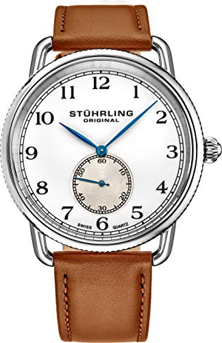 Stuhrling Original Classic Cuvette Wrist Watch for Men - Swiss Quartz...