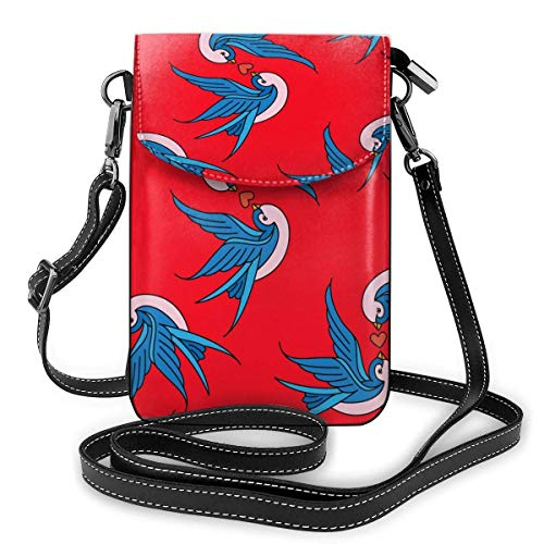 XCNGG Swallow Red Cell Phone Purse Crossbody Bag Pouch Shoulder Bags Wallet For Women Girls Travel Wedding