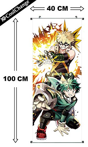 CoolChange Poster para enrollar /Kakemono de My Hero Academia Hecho de paño, 100x40cm, Tema: Izuku Midoriya & Katsuki Bakugo