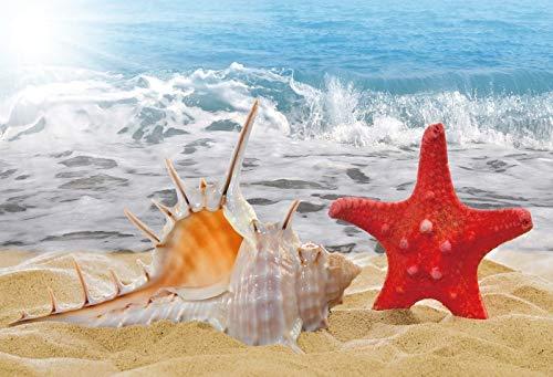 Fondos de Verano para fotografía Superficie del Agua del mar Ola Bebé Niño Fiesta de cumpleaños Fondos fotográficos escénicos Photocall A26 7x5ft / 2.1x1.5m
