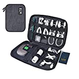 Luxtude Electronics Organizer, Compact Travel Organizer Bag, Portable Cord Organizer Travel Bag for Cable Storage, Cord Storage and Electronics Accessories Phone/USB/SD Card/Charger Organizer (Gray)
